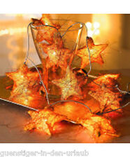 Sternenlichterkette aus Rattan Lichterkette Sterne Weihnachtsdeko Dekoration