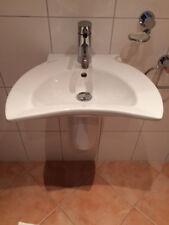 Villeroy +Boch Tiora Hand Waschbecken 50 mit Halbsäule weiß und Dornbracht Meta