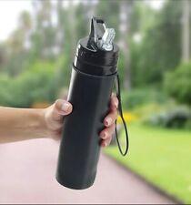 Foldable Water Bottle Flip Top Lid Camping Hiking Outdoor Water Bottle j