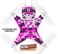 DJI Phantom 4 Pro Skin Wrap Decal Sticker Battery Body Pink Camouflage Ultrad...