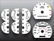1990-1993 Ford Mustang 220 Kmh METRIC White Face Gauges