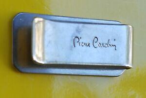 Vintage Silver Tone Signed Pierre Cardin Money Clip Holder