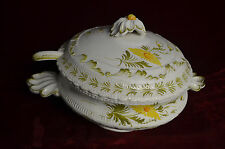 "Vintage Italy #36 out of 46 10"" Soup Tureen w/Lid & Laddle Flowered Hand Painted"