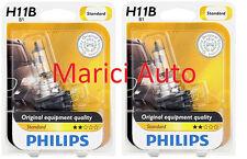 2x PHILIPS H11B B1 Light Bulb Halogen Beam 12363 OEM Headlight Headlamp Pair