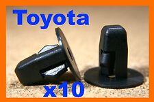 10 Toyota black plastic nylon screw grommet M5 fitting fastener bumper fender