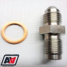 """Garrett Turbo 1mm Restricted Oil Feed Stainless Adapter - AN-4 (4AN) To 7/16""""x24"""