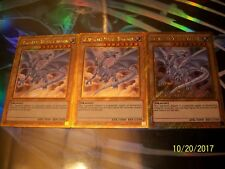 3x Blue-Eyes White Dragon Limited Edition Gold Secret Rare MVP1-ENGV4 Yu-Gi-Oh!