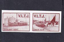 Denmark Local Railway Parcel Stamps  VLTJ  Error: NO FACE VALUE Imperf. Pair