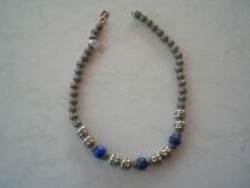 Kette, Silber, Lapis, 43 cm, NEU