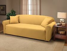 "JERSEY ""FITTED"" YELLOW SLIPCOVERS FOR SOFA COUCH LOVESEAT CHAIR RECLINER SIZES"