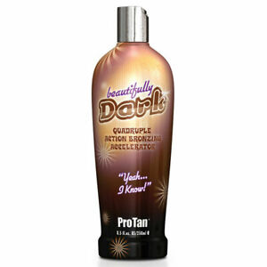 Pro Tan Beautifully Dark Bronzing Sunbed Tanning Accelerator Lotion Cream + Gift