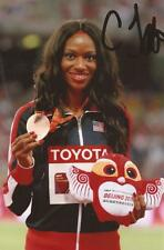 Athlétisme: Cassandra Tate signé 6x4 Médaille célébration PHOTO + COA * USA ** Rio 2016 *