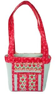 STRAWBERRIES Handbag Bag MEDIUM Size Inside Pocket Zipper Closure Handmade BNWOT