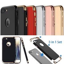 3 in 1 Cover iPhone 10 X 8 7 6 5 360° Schutz Hülle Bumper Case Tasche Panzerglas