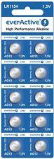 10 pilas de botón alcalina EverActive LR44/AG13/LR1154 de 1,5V