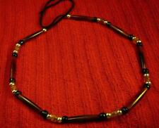 Rare Distinctive Native American Indian Amber Buffalo Bone Hatband or Necklace