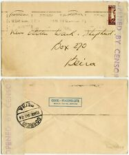More details for southern rhodesia 1941 censored to portuguese e.africa cooks travel + tea slogan