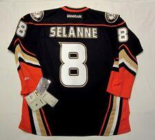 TEEMU SELANNE - size LARGE -  Anaheim Ducks Reebok Premier Hockey Jersey 2010-14