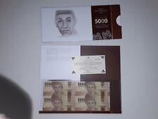 Indonesia 5000rp 4 in 1 Uncut Banknote 2016 UNC Folder and Certificate 印尼连体钞