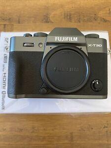 Fujifilm X-T30 Mirrorless Digital Camera, Charcoal Silver body