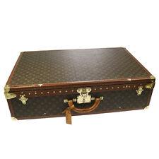 Authentic LOUIS VUITTON ALZER 80 Monogram Luggage Trunk Vintage M21222 BT11823