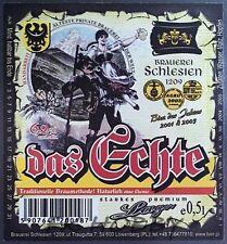 Poland Brewery Lwówek Das Echte Beer Label Bieretikett Cerveza ls136.3