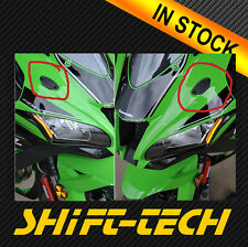 ST1495 KAWASAKI ZX-10R NINJA 2016 17 18'MIRROR BLOCK OFF PLATES MADE IN USA!!!