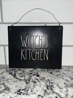 rae dunn witch's kitchen ceramic sign
