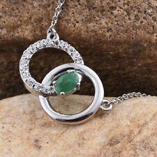 "Emerald Sapphire 18 - 19.99"" Fine Necklaces & Pendants"