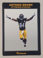 "Antonio Brown *VICTORY* FATHEAD Small Ad Panel 6""x4"" NFL Wall Graphics STEELERS"