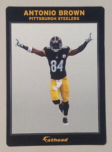 "Antonio Brown *VICTORY* FATHEAD Small Ad Panel 6""x4"" NFL Wall Graphics STEELERS"