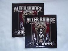 """ALTER BRIDGE/Shinedown/Sevendust """"Walk the Sky Tour"""" UK 2019 Promo flyers x 2"""