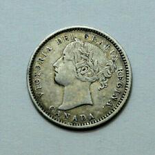 1892 CANADA SILVER 10 CENTS VICTORIA DEI GRATIA REGINA 10c SCARCE COIN RARE