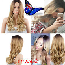 Sexy Ladies 24'' Blonde Synthetic Lace Front Wigs Resistant Full Wig Curly Hair