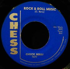 CHUCK BERRY-Rock & Roll Music + Blue Feeling-Early Rock 45-CHESS #1671 VG++