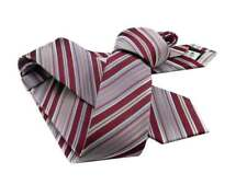 CRAVATTINO skinny tie  CRAVATTA a righe bordeaux rosa