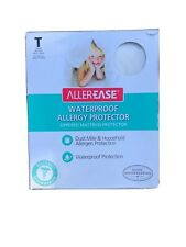AllerEase waterproof allergy mite protector mattress cover zippered Twin