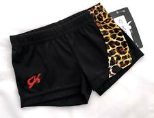 New GK Elite SHORTS Gymnastics LEOTARD Bar BLACK Animal LEOPARD Cheer Cheer CS