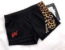 New Gk Elite Shorts Gymnastics Leotard Bar Black Animal Leopard Cheer Cheer Cs