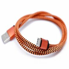 Strong Orange Braided Micro USB 3.1 Sync Charger Cable Lead For LG G5