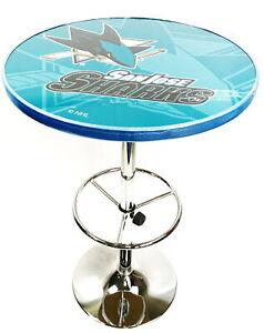 "NHL Chrome Pub Table 27"" - Watermark - San Jose Sharks #NO7865"