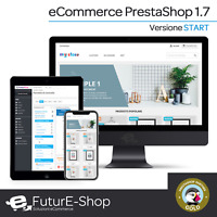 Dominio INTERNET con NEGOZIO ONLINE STORE SHOP WEB PrestaShop versione 1.7 new