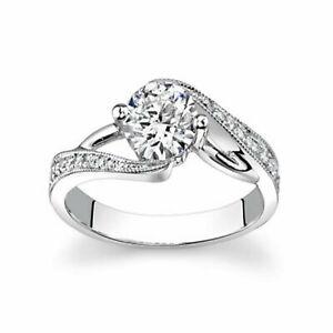 1.15 Carat 950 Platinum Round Cut Diamond Engagement Ring For Her Size M N O P Q