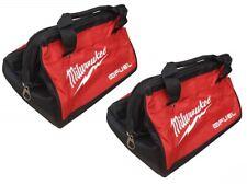 "2 New Milwaukee M12 Fuel 13"" Heavy Duty Contractors Tool Bags 13"" x 9"" x 10"""
