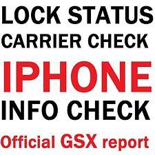 iPhone Lock Status Carrier Check SIM-Status Checker Apple Official GSX Report