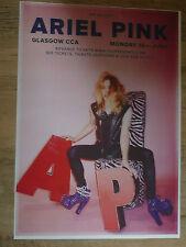 Ariel Pink - Glasgow june 2015 concert tour gig poster