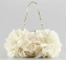 NEW JUDITH LEIBER GOLD IVORY MINAUDIERE Brooke FLORAL CLUTCH BAG Wedding