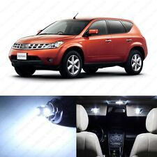 11 x Xenon White LED Interior Light Package For 2003 - 2008 Nissan Murano