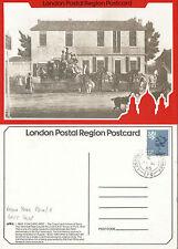 1985 MAIL COACHING INNS LPR 5 POSTCARD LAST JOURNEY TRAVELLING POST OFFICE CDS
