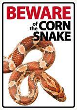 Cuidado con el maíz Serpiente Signo. Perfecto Regalo Para Reptil lovers!